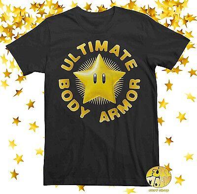 T-shirt Body Armor (New Nintendo Star Ultimate Body Armor Men's Super Mario Bros T-Shirt )