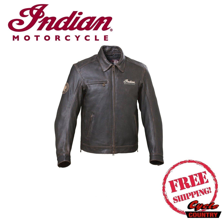 Купить genuine indian motorcycle men's classic dark brown leather на