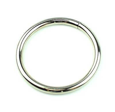 "Stainless Steel Rings Welded Nickel Plated 2 "" Eye Size-6 Pcs"