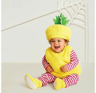 Hyde & Eek Baby Plush Pineapple Halloween Costume Dress Up Size 0/6 12/18 mo NEW](Pineapple Baby Costume)