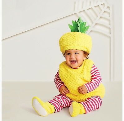 Baby Girls Plush Pineapple Vest Halloween Costume~Hyde Eek! Boutique~0-6 Months](Pineapple Baby Costume)