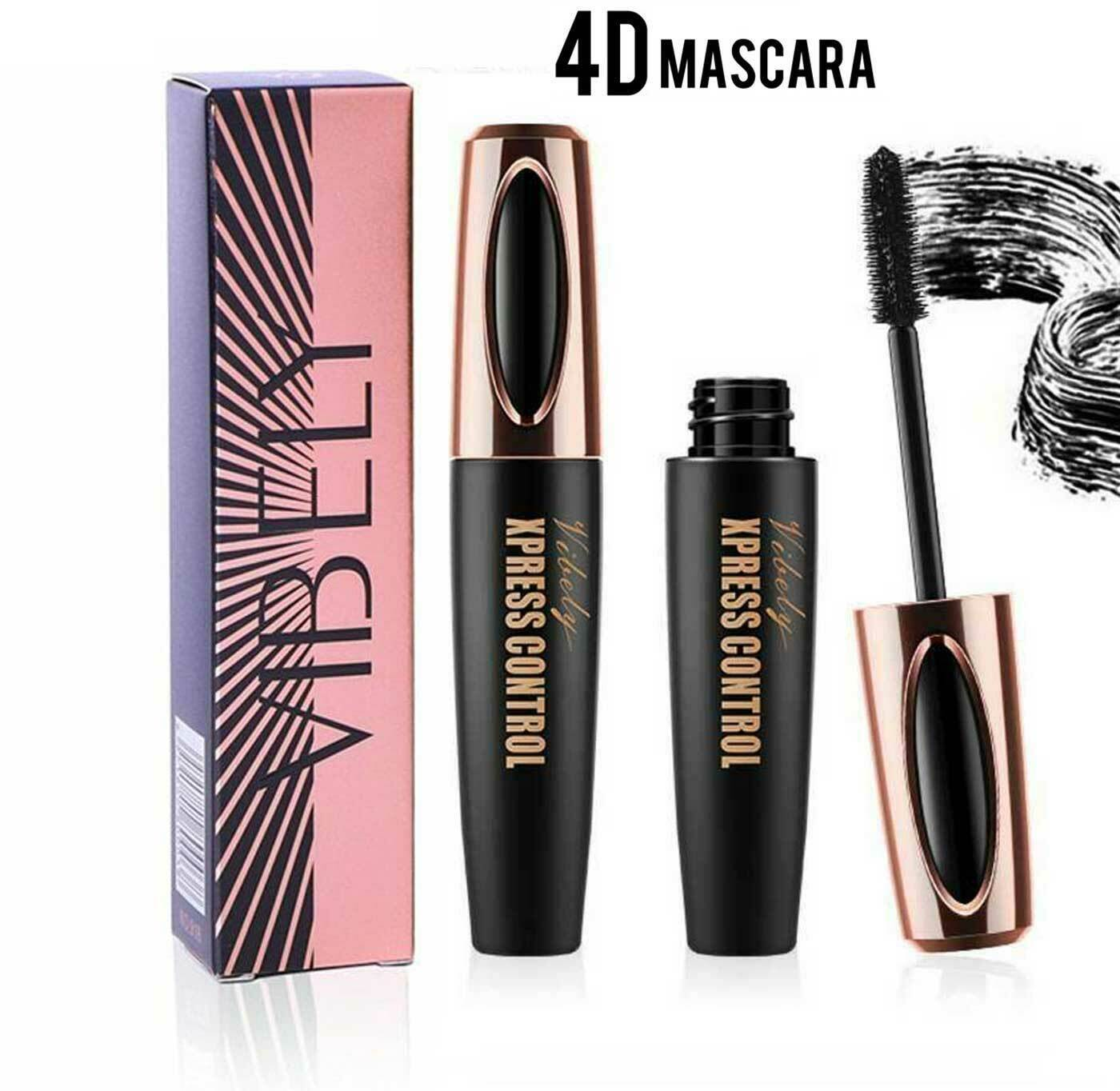 4D Silk Fiber Eyelash Mascara Extension Makeup Black Waterproof Eye Lashes USA Eyes