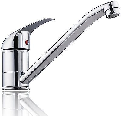 Chrome Brushed Swivel Kitchen Tap Basin Sink Mixer Modern Faucet Spout Hot &cold