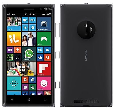 Nokia Lumia 830 At T Unlocked Smartphone 16Gb Windows Smartphone Black Fair