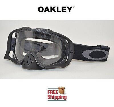 Used, OAKLEY® CROWBAR® GOGGLES MX ATV MOTOCROSS MOTORCYCLE DIRT BIKE CARBON FIBER FLAT for sale  Salem