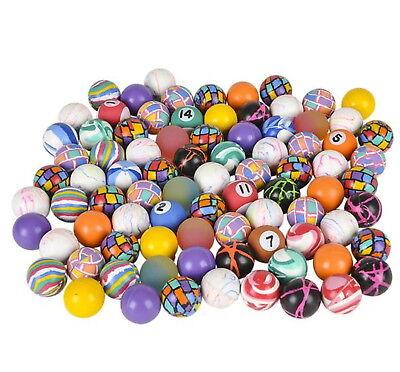 100 Hi Bouncy Balls Super Bounce Bouncing Party Favors 27mm Mardi Gras Bulk - Bouncy Balls Bulk