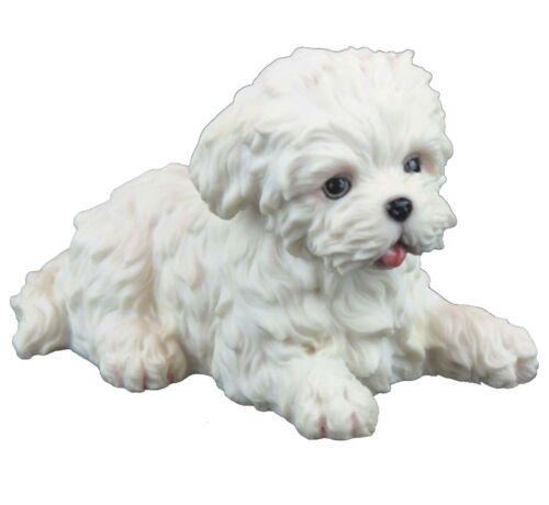 "Maltese Puppy Dog - Collectible Figurine Miniature 4.5""L New in box"