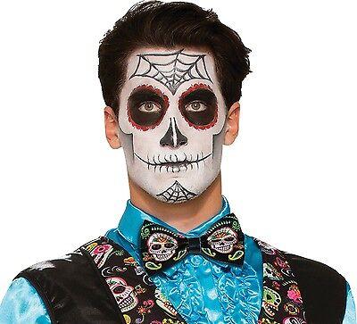 Herren Tag der Toten Halloween Kostüm Kleid Outfit Zubehör (Herren Tag Der Toten Halloween Kostüme)