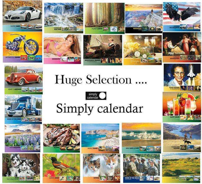 """Simply Calendar""""Exotic Cars"""" 2020 Lightweight Wall Calendar"""