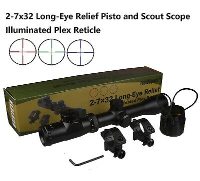 Field Sport 2 7X32 Long Eye Relief Illuminate Red Green Blue Plex Scope
