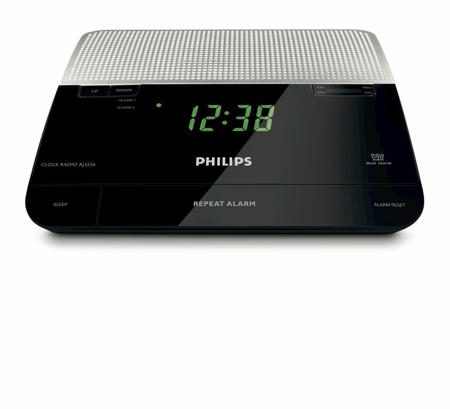 philips aj3226 fm digital tuning alarm clock radio 220 240 volts 8712581402723 ebay. Black Bedroom Furniture Sets. Home Design Ideas