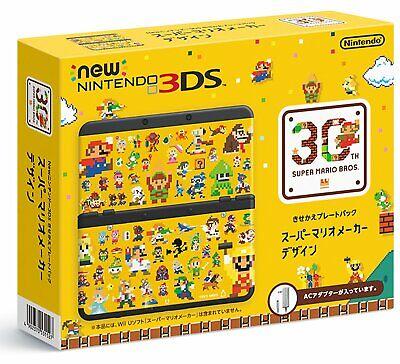 Nintendo 3DS Konsole Super Mario Stifter Design Kisekae Platte Packung Neu
