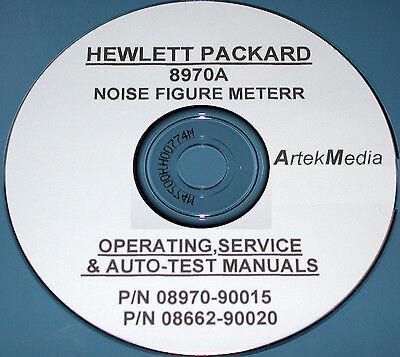 Hp Hewlett Packard 8970a Noise Figure Meter Operating Service Manuals 2 Vol
