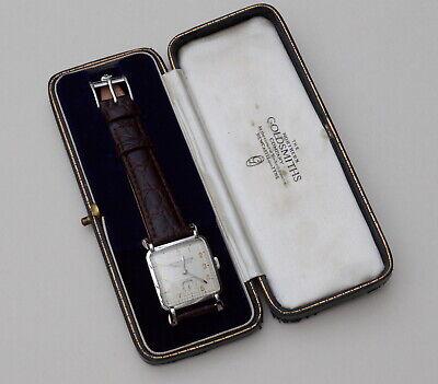 Near Mint Jaeger LeCoultre Vintage Steel Wristwatch P480/C 1951 Orig Buckle