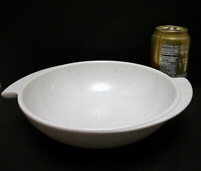 Vtg MCM Boontonware Winged White Serving Bowl 8