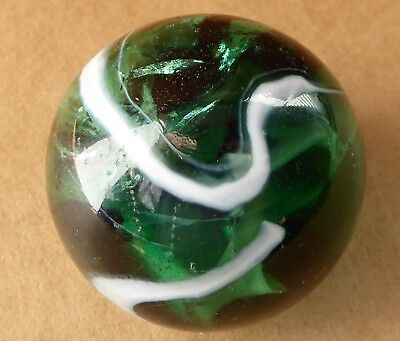 Large marble, 1.67 inches, emerald green, some internal damage.