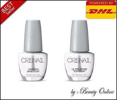 (Crisnail Diomand Base coat & Ultra Shine Top Coat Nail Polish, 14ml)