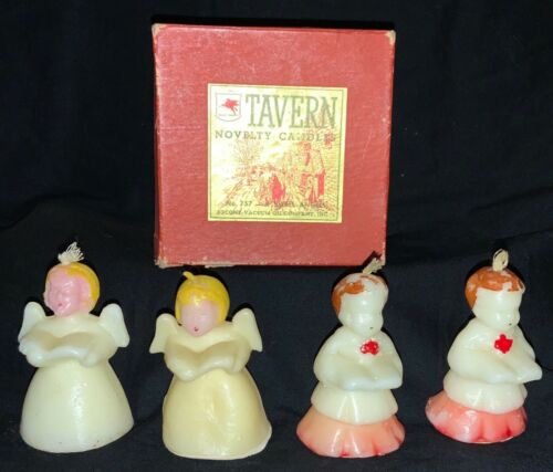 VINTAGE LOT TAVERN CANDLES W/BOX - ANGELS & CHOIR BOYS