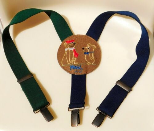 VTG YOGI BEAR  & BOO BOO Suspenders Child From ENGLAND UK  YOGI WEAR