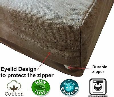 Cover 4 Dog Bed (PET DOG BED Replacement COVER Brown Durable Denim Jean Duvet Case Dogbed4less  )