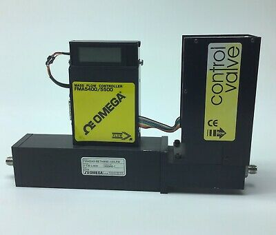 Omega Fma5543 Mass Flow Controller W Control Valve For Ch4 Gas Methane 0-150lpm