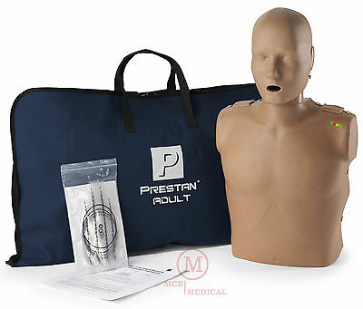 Prestan Adult Cpr Manikin With Monitor Dark Tone Mannequin Item Pp-am-100m-ds
