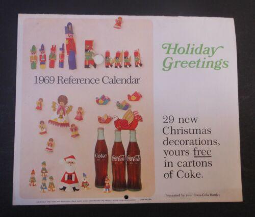 Vintage Coca Cola 1969 Reference Calendar