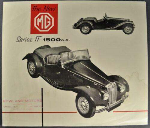 1954-1955 MG TF 1500 Roadster Sales Brochure Sheet Original