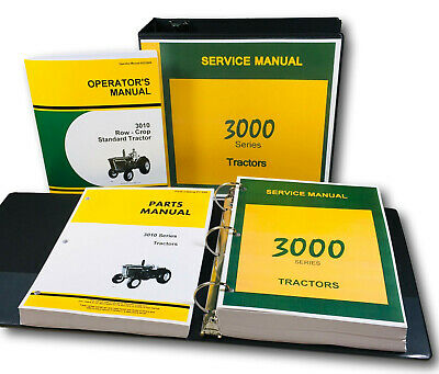 Service Operators Parts Manual Set For John Deere 3010 Tractor Gas Diesel Lp