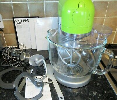 Kenwood kMix KMX50GGR Stand Mixer Green Complete with all Accessories Cover VGC