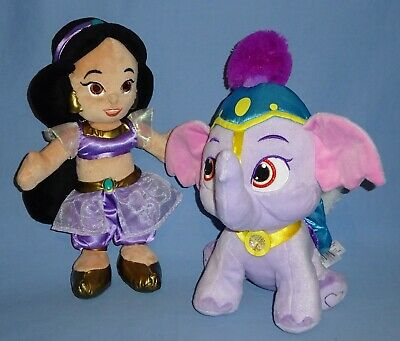 Disney Plush Jasmine toddler doll-Princess Palace Pets Elephant Taj-Aladdin LOT