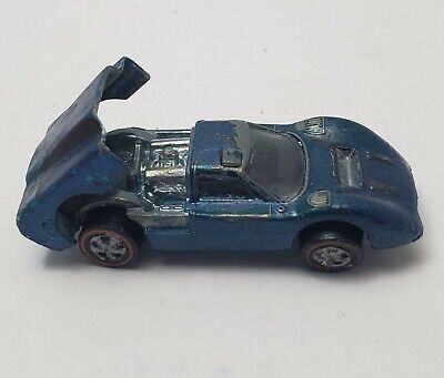 HOT WHEELS Mattel INC.Hong kong 1967 FORD J.CAR blue