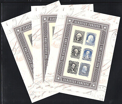 #5079 Classics Forever Sheet Lot of 3, MNH-Free Shipping!!