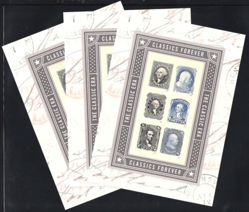 #5079 Classics Forever Sheet Lot of 3, MNH - Free Shipping!!!