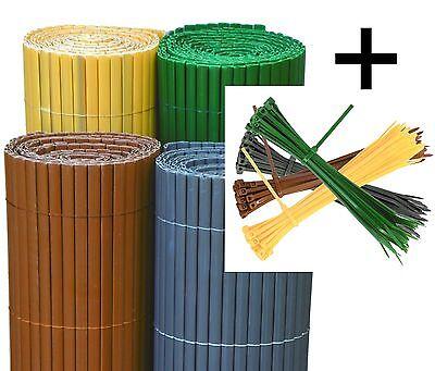 PVC Sichtschutz Windschutz Blickschutz aus Kunststoff für Balkon Garten Terrase