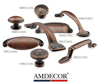 Amdecor Vintage Antique Copper Kitchen Cabinet Pull Handle knob designerHardware Antique Copper Knob
