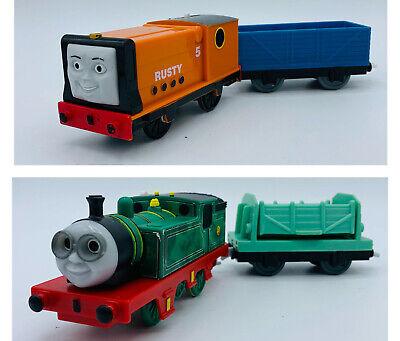Thomas & Friends Trackmaster Motorized Trains Lot Whiff Dump Car & Rusty Wagon