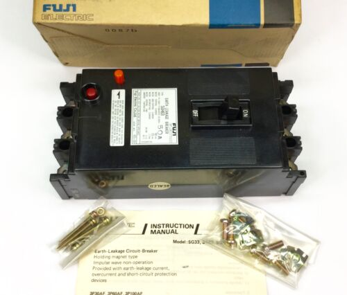 FUJI SGH63 EARTH LEAKAGE CIRCUIT BREAKER 50A 3 POLE 550V NEW IN BOX