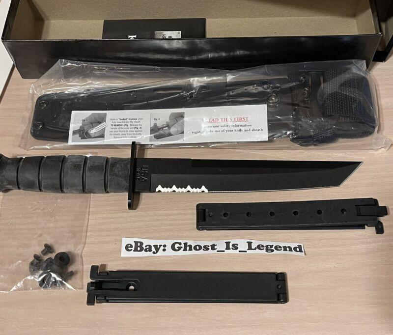 Ka-Bar Black Tanto Knife Serrated 1245