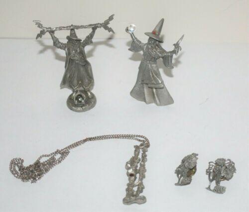 LOT of 5 Gallo Ridolfi Lot Wizards, Castle Tower Pendant, Wine Goblet Tie Tacks