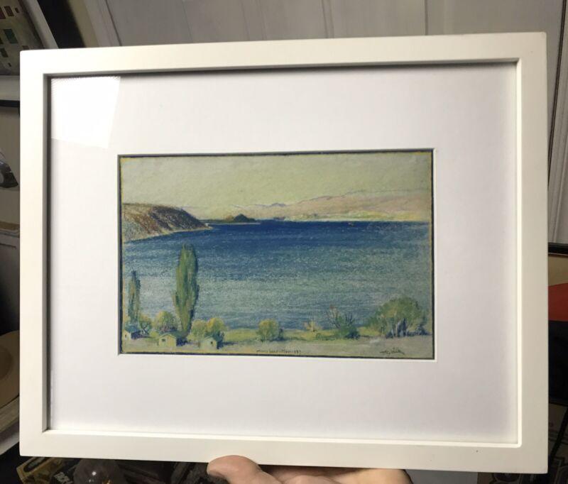 1937 Pastel Of mono Lake Signed