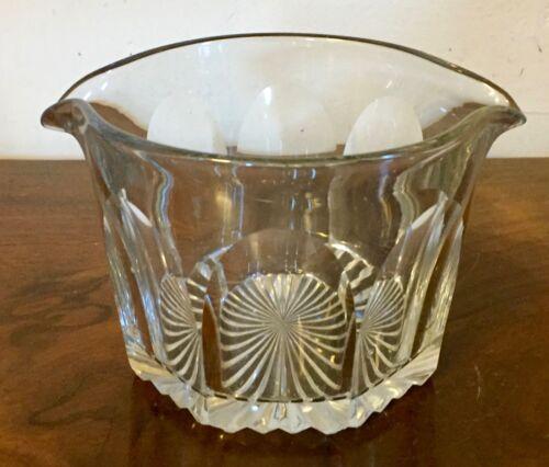 Antique English George III Regency Cut Crystal Glass Wine Rinser 19th century