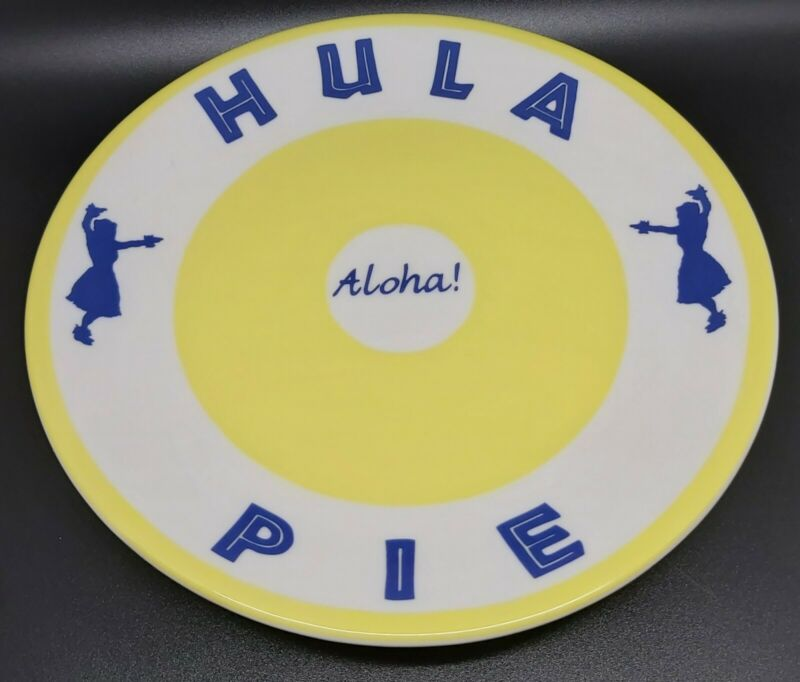 Hawaii Aloha ! Hula Pie Serving Plate Syracuse Restaurant Ware 10 Inch Decor