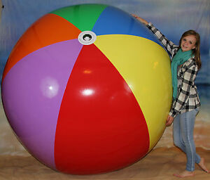 Giant 6 Foot Inflatable 7 Color Beach Ball Heavy Duty Huge Prop Fun Pool Toy Ebay