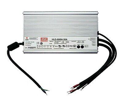 New Hlg-600h-30a Mean Well 100-240 Vac In 30v At 20a Out Power Supply