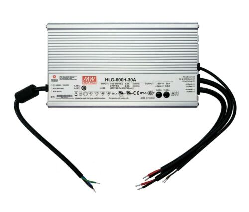 New HLG-600H-30A Mean Well 100-240 VAC In / 30V AT 20A Out Power Supply
