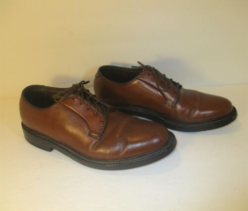 FLORSHEIM Royal Imperial 5-Nail V-Cleat Brown Leather Lace Up Oxfords-Sz-7.5-8
