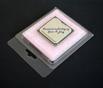 Intel Amd Cpu Clam Shell Blister Pack With Anti Static Foam Pad - Qty 40 - New