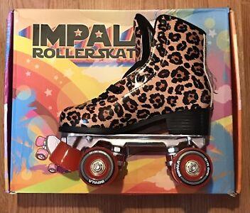 Impala Leopard print Roller Skates Size UK 4 BNIB