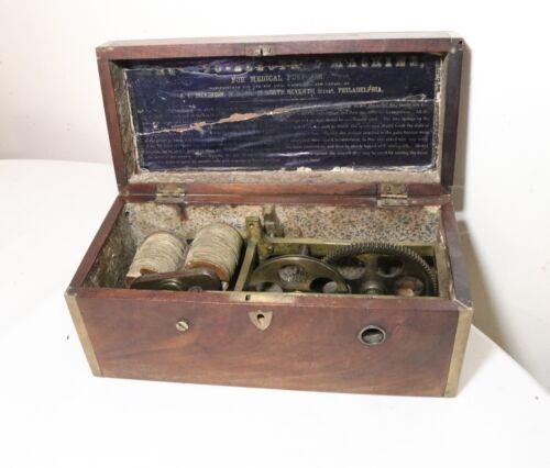 Antique 1854 Dickinson Phila Magneto Electric Quackery Medicine Shock Machine.
